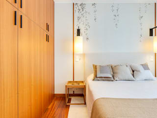 Tangerinas e Pêssegos - Design de Interiores & Decoração no Porto Eclectic style bedroom Beige