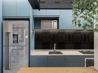 Studio-VF-Arquitetura Dapur kecil Blue