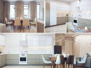 Студия дизайна интерьера 'Золотое сечение' Kitchen units Grey