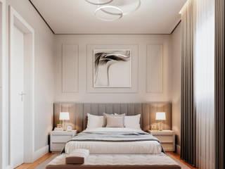 Giovanna Romero Arquitetura e Interiores Kamar Tidur Klasik Grey