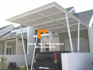 Bengkel Las dan Pasang Plafon & Kanopi Nganjuk Metal Indo Konstruksi Garages & sheds Aluminium/Seng White