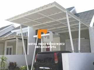 Metal Indo Konstruksi Garages & sheds Aluminium/Zinc White