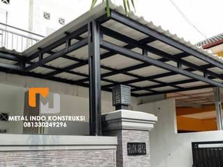 Bengkel Las dan Pasang Plafon & Kanopi Nganjuk Metal Indo Konstruksi Garages & sheds Aluminium/Seng Grey