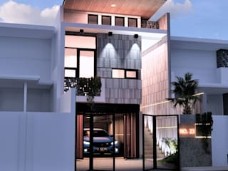 Fusion of visual light with industrial concepts . BujurSangkar Architect Rumah tinggal
