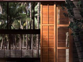PALMYRA HOUSE DADOMM / Architectural Visualization / Render Rumah kayu Kayu Wood effect