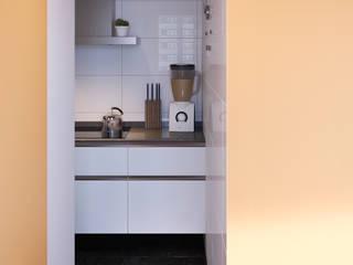 DADOMM / Architectural Visualization / Render Dapur Modern Keramik Orange