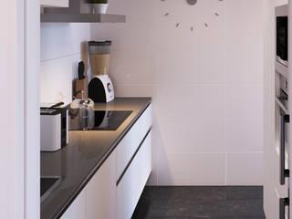 DADOMM / Architectural Visualization / Render Dapur built in Keramik White