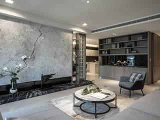 樸心悠然 仝育室內裝修設計有限公司 现代客厅設計點子、靈感 & 圖片