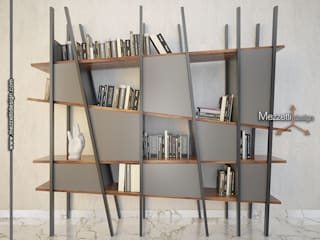 Mezzettidesign Study/officeCupboards & shelving Wood Grey