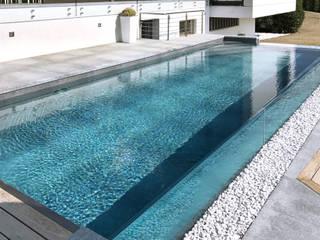 RENOLIT ALKORPLAN Schwimmbäder Kolam renang infinity Kaca Grey