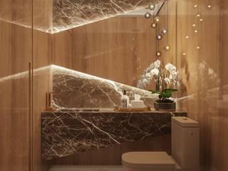 Camila Pimenta | Arquitetura + Interiores Baños de estilo moderno Madera Beige