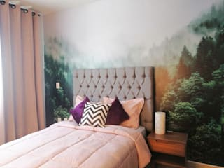 CONCEPTO JORU Scandinavian style bedroom Multicolored