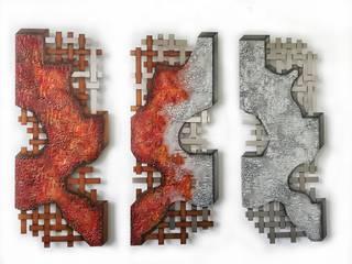 Edelstahlkunstwerke Edelstahlbild Atelier Sabine Kottmayr Kunst Bilder & Gemälde Metall Rot