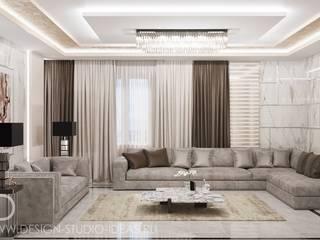 Студия дизайна ROMANIUK DESIGN Salones de estilo moderno