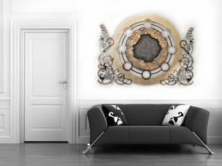 Wohnideen Edelstahlbild Atelier Sabine Kottmayr Kunst Bilder & Gemälde Metall Bernstein/Gold