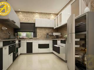 The Artwill Interior Kleine keuken Multiplex Grijs