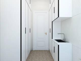 Студия дизайна ROMANIUK DESIGN ห้องแต่งตัว