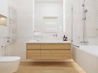 Студия дизайна ROMANIUK DESIGN Baños de estilo minimalista