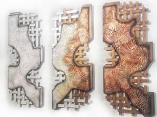 Triptychon Varianten Edelstahlbild Atelier Sabine Kottmayr Kunst Bilder & Gemälde Metall Mehrfarbig