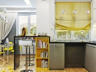 Студия дизайна ROMANIUK DESIGN Cocinas de estilo industrial