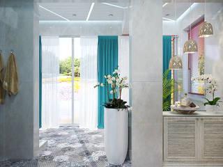 Студия дизайна ROMANIUK DESIGN Spa de estilo mediterráneo