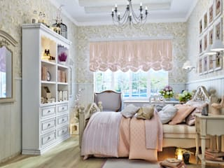 Студия дизайна ROMANIUK DESIGN Dormitorios de estilo rural