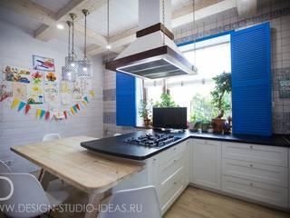 Студия дизайна ROMANIUK DESIGN Cocinas de estilo mediterráneo