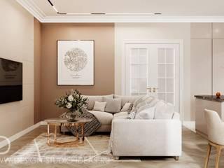 Студия дизайна ROMANIUK DESIGN Salones de estilo minimalista