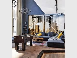 Студия дизайна ROMANIUK DESIGN ห้องนั่งเล่น