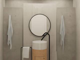 Lagom studio インダストリアルスタイルの お風呂 コルク 灰色