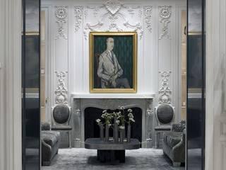 كاسل للإستشارات الهندسية وأعمال الديكور والتشطيبات العامة Paredes y pisos de estilo clásico Caliza Negro