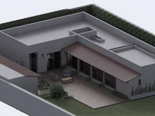 ConstruTech & Technology BIM Rumah pedesaan Beton Grey