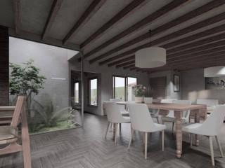 ConstruTech & Technology BIM Rumah pedesaan Kayu Grey