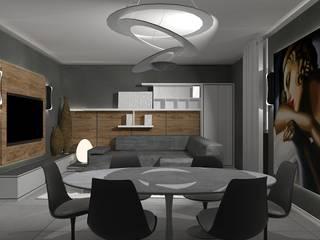 soggiorno contemporaneo Interior Design Stefano Bergami Sala da pranzo moderna