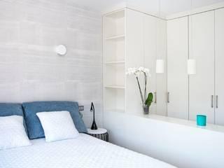 Dormitorio principal - Master bedroom Ambar Decoraciones Dormitorios pequeños Azul