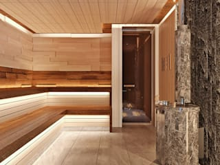Студия дизайна ROMANIUK DESIGN Spa minimalista