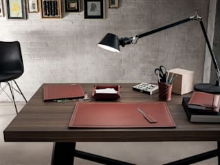 Limac Design Study/officeDesks Leather Red