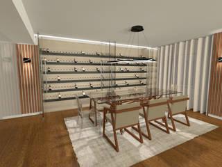 Volo Vinis Bodegas de estilo minimalista Vidrio Transparente