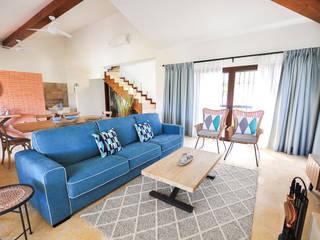 Casa Rural en Alora - Country holiday house Ambar Decoraciones Salones de estilo rural Madera Azul
