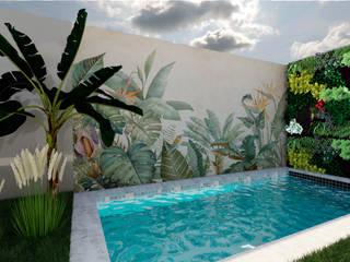Paraíso Tropical MEA Interior Design Piscinas de jardim