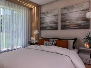 Suite Master Ripado Madeira MEA Interior Design QuartoAcessórios e decoração