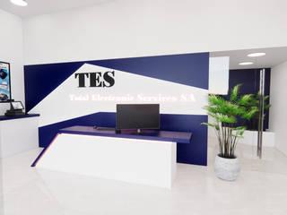 Local para venta de maquinas fiscales Arquydesign Edificios de oficinas Aglomerado Blanco
