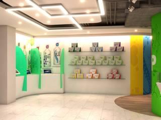NUTRITION GEL COMPANY LIMITED Modernize Design + Turnkey ห้องทำงาน/อ่านหนังสือ กระเบื้อง Green