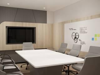 Modernize Design + Turnkey Ruang Studi/Kantor Modern Ubin Green