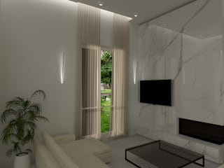 melania de masi architetto Moderne Wohnzimmer