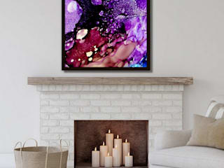 Holly Anderson Fine Art Living roomFireplaces & accessories Purple/Violet