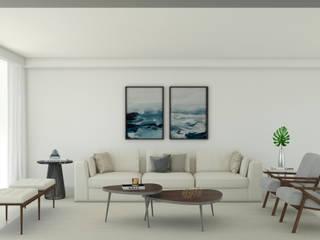 Luxart studio Minimalistische Wohnzimmer