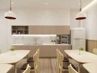 Modernize Design + Turnkey Modern study/office Wood Brown