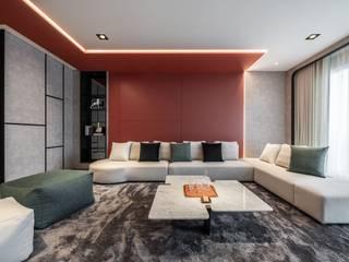 綵橘 仝育室內裝修設計有限公司 现代客厅設計點子、靈感 & 圖片