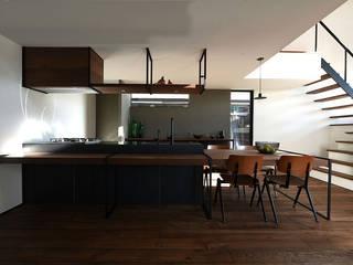 Case Study House #72 E House NASU CLUB システムキッチン 鉄/鋼 黒色